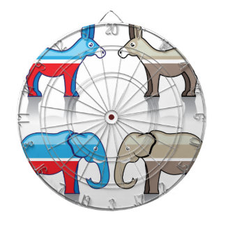 Donkey and Elephant Political Parties Dartboard With Darts