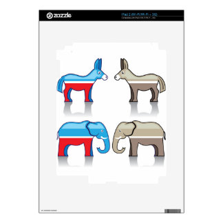 Donkey and Elephant Political Parties Decals For The iPad 2