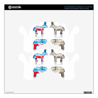 Donkey and Elephant Political Parties PS3 Controller Skin
