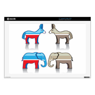 """Donkey and Elephant Political Parties Skin For 17"""" Laptop"""