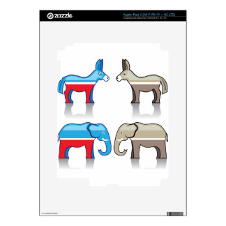 Donkey and Elephant Political Parties Skins For iPad 3