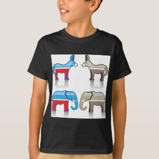 Donkey and Elephant Political Parties T-Shirt