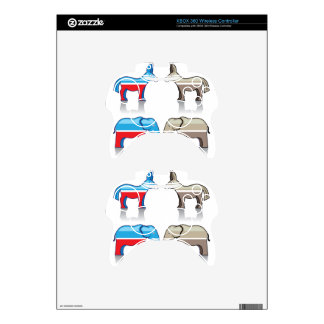 Donkey and Elephant Political Parties Xbox 360 Controller Decal