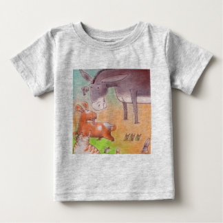 Donkey and its friends baby T-Shirt