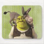 Donkey And Shrek Mouse Pad