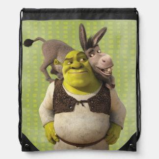 Donkey And Shrek Cinch Bags