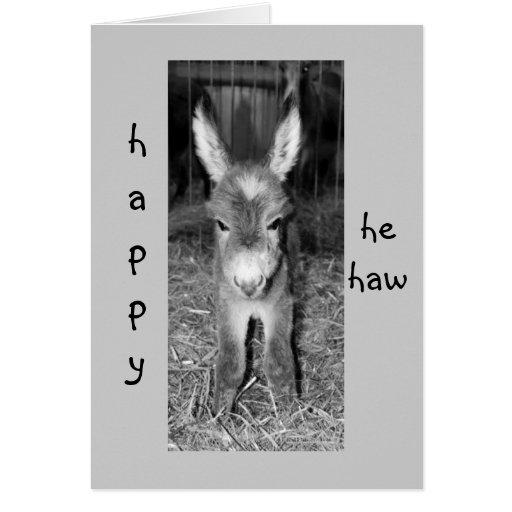 "DONKEY BABY SAYS HAPPY ""HE HAW"" BIRTHDAY TO YOU CARD"