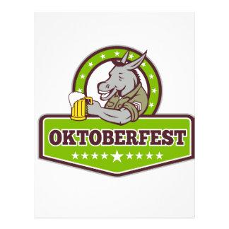 Donkey Beer Drinker Oktoberfest Retro Letterhead