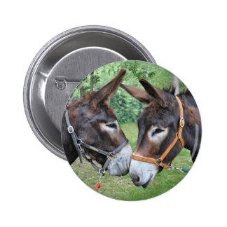Donkey best friends pinback button
