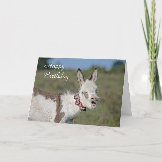 Donkey Birthday Card Zazzle