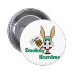 Donkey Bomber Pinback Button