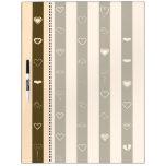 Donkey Brown Stripes Modern Heart Pattern Dry-Erase Board
