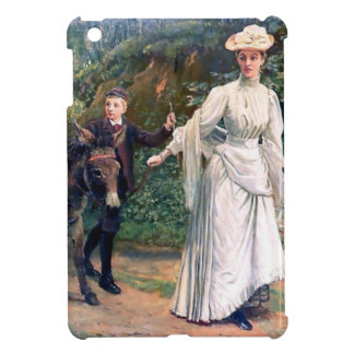 Donkey Children Mother Antique painting iPad Mini Cover