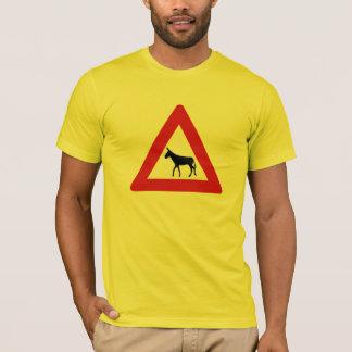 Donkey Crossing (1), Sign, Netherlands Antilles T-Shirt