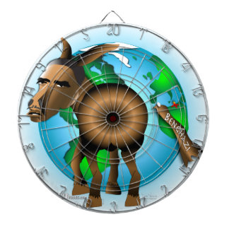 Donkey Dartboard With Darts