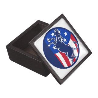 Donkey Democrat Flag Premium Keepsake Boxes