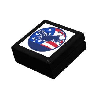 Donkey Democrat Flag Trinket Box