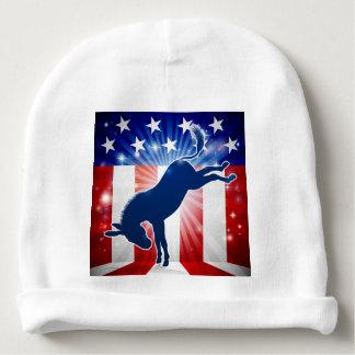 Donkey Democrat Political Mascot Kicking Baby Beanie