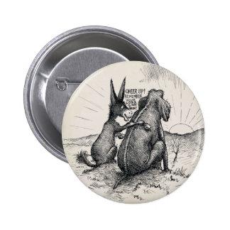 Donkey Elephant Election Pin/ Pinback Button
