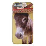 Donkey (Equus hemonius) wearing straw hat iPhone 6 Case