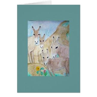 donkey family card