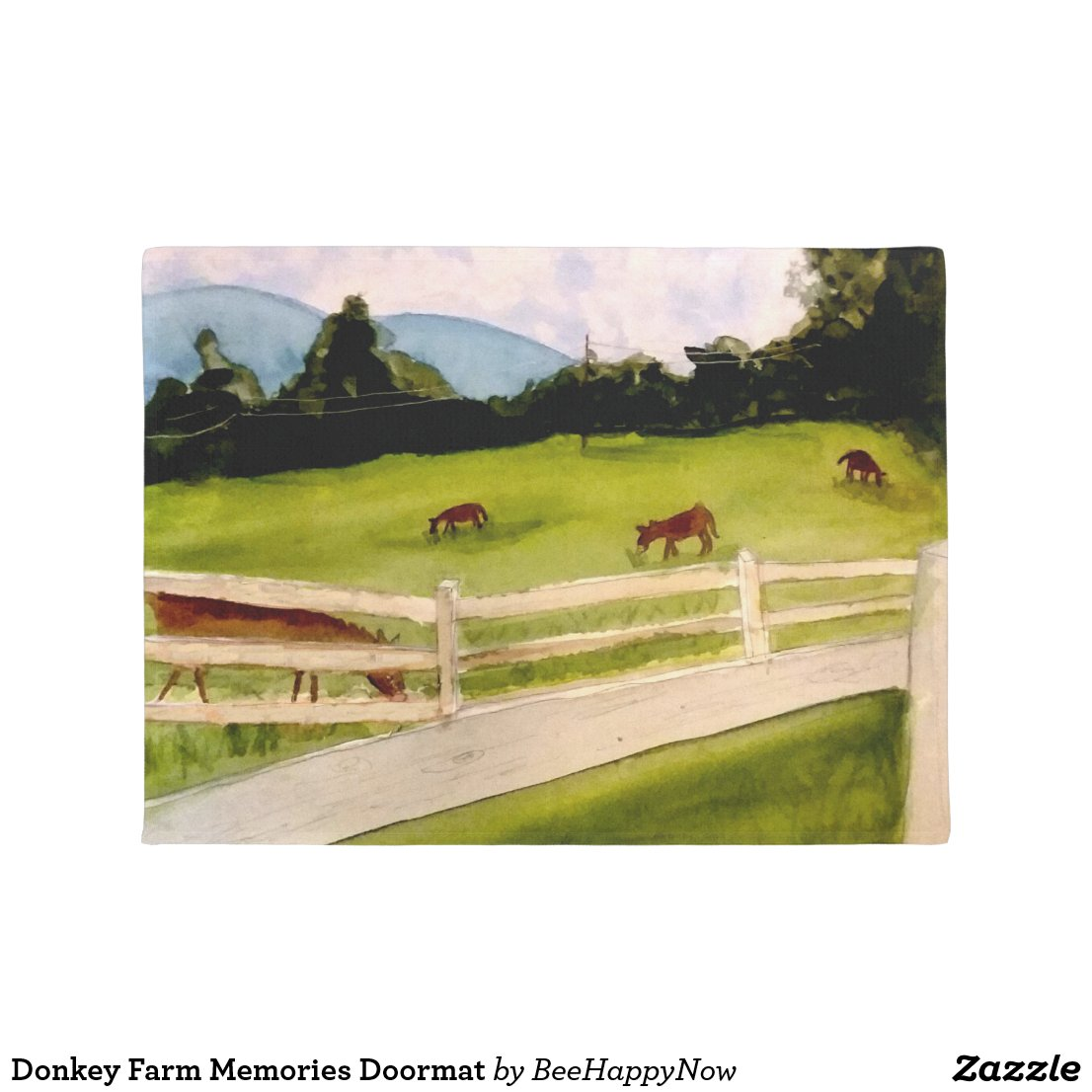 Donkey Farm Memories Doormat