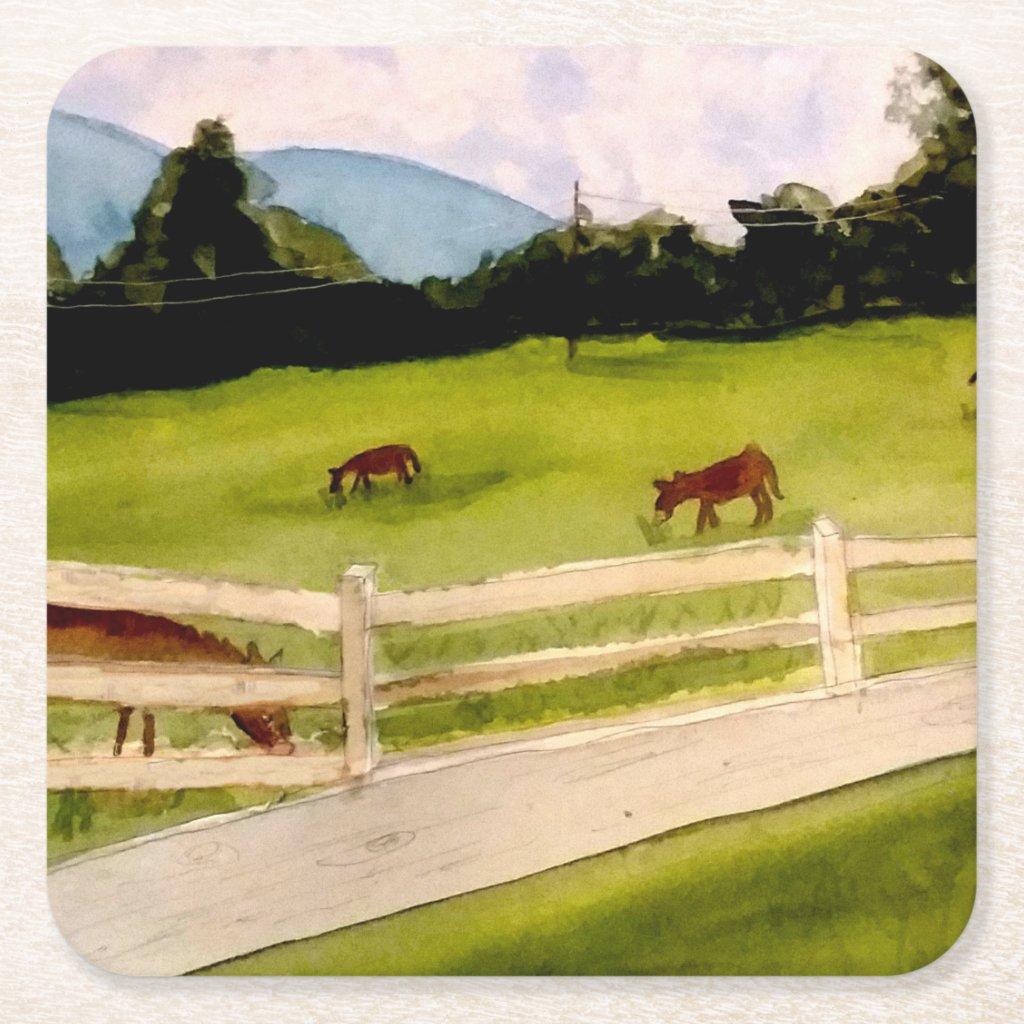 Donkey Farm Memories Drink Coasters