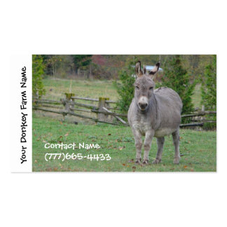 Donkey Farming, Services or Boarding Business Cards