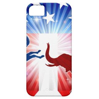 Donkey Fighting Elephant Silhouettes iPhone SE/5/5s Case