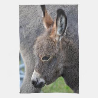 Donkey foal hand towel