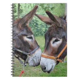 Donkey friends spiral note books