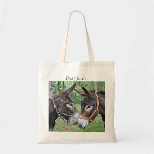 Donkey friends tote bags
