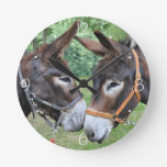 Donkey friends wall clock