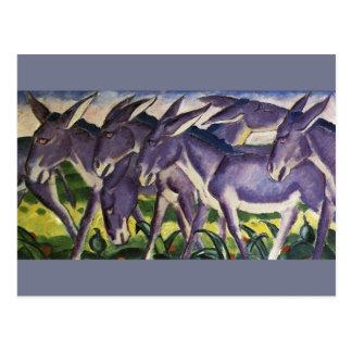donkey frieze postcard