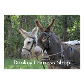 Donkey harness business card
