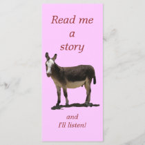 Donkey has Funny Tail Cute Children's Bookmark