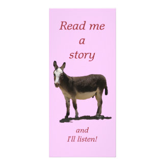 Donkey has Funny Tail Cute Children's Bookmark Rack Card