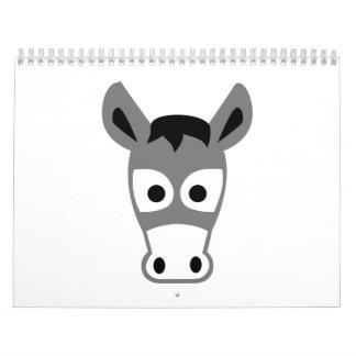 Donkey head calendar