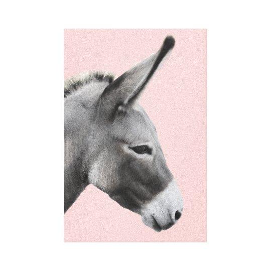 Donkey Head Profile Canvas Print