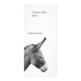 Donkey Head Profile Rack Card