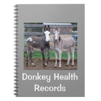 Donkey Health Records Notebook