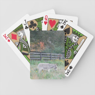 Donkey in a Fall Autumn Field. Bicycle Playing Cards