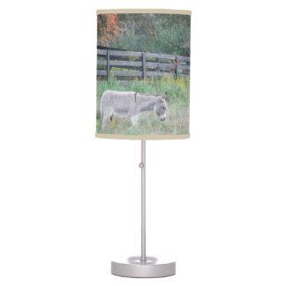 Donkey in an Autumn field Desk Lamp