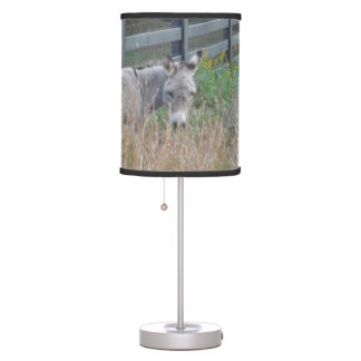 Donkey in an Autumn field Table Lamps