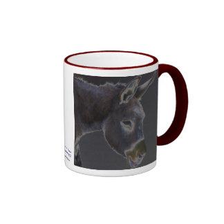 Donkey in Dark Shades - Horse Animal Rescue Ringer Mug