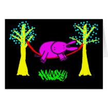 donkey in hammock card