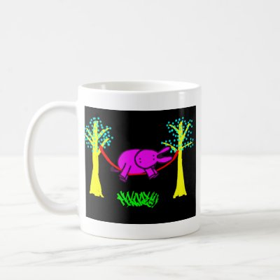 donkey in hammock coffee mug