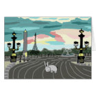 donkey in Paris Card