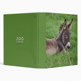 Donkey In The Grass 3 Ring Binder