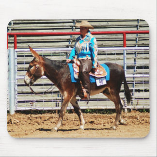 donkey in western pleasure class mouse pad